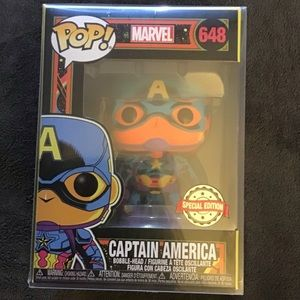 Marvel black light funko captain America 648